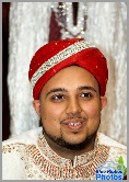 Asian Groom headshot during an Asian Wedding ceremony