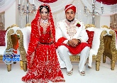 Asian Bride & Groom during the ceremony